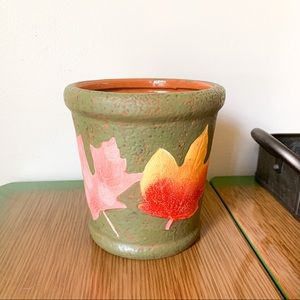"5"" Green Autumn Leaf Planter"